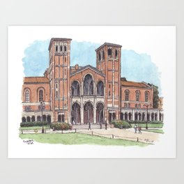 Royce Hall UCLA Art Print