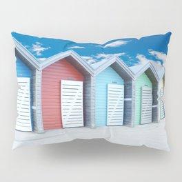 'Beach huts' Northumberland Pillow Sham