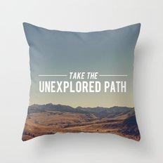 Take The Unexplored Path Throw Pillow