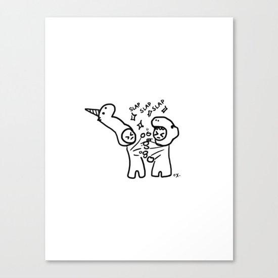 slapfight Canvas Print