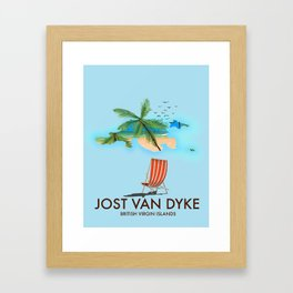 jost van dyke British Virgin Islands Framed Art Print