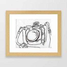 my camera Framed Art Print