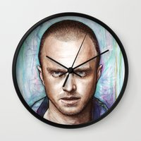 jesse pinkman Wall Clocks featuring Jesse Pinkman by Olechka