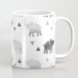 Elephants and Triangles - Silver Coffee Mug