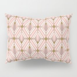 Jaime's Blush and Gold Diamonds Pillow Sham