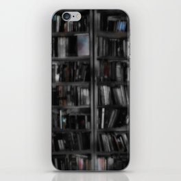 Black and White Book Shelves iPhone Skin