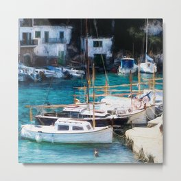 Espana Harbour Metal Print