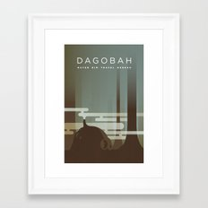 Outer Rim Travel Bureau: Dagobah Framed Art Print