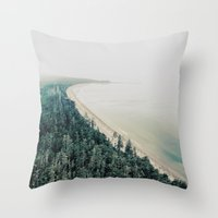 west coast Throw Pillows featuring West Coast by bunderfost