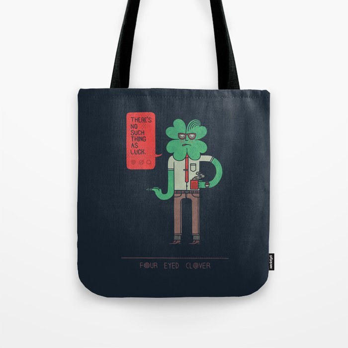 Four Eyed Clover Tote Bag