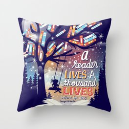 Thousand lives Throw Pillow