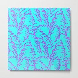 Ocean Seaweed Tropical Print Metal Print