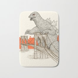 Godzilla vs. the Brooklyn Bridge Bath Mat