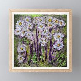 Debbies Floral Green Framed Mini Art Print