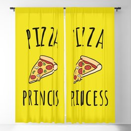 Pizza Princess Funny Quote Blackout Curtain