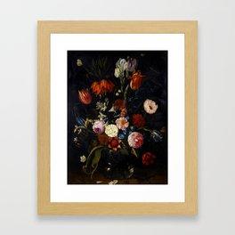 """Jan van Kessel the Elder """"Floral still life"""" Framed Art Print"""