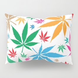 marijuana leaf color pattern Pillow Sham