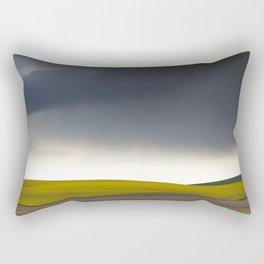 Rain's Coming Rectangular Pillow