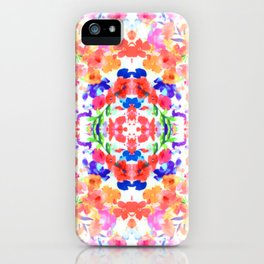 Floral Print - Brights iPhone Case