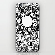 Black and White Doodle 2 iPhone Skin