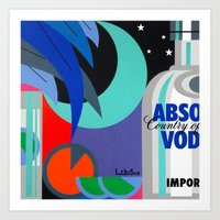 Absolut at Night - Paint Art Print