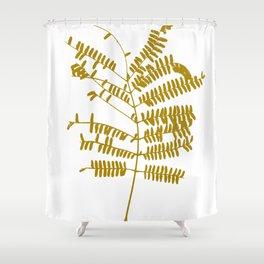 Golden Leaf #Minimal Shower Curtain