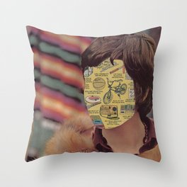 Door to Door Sales Throw Pillow