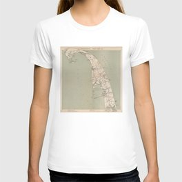 Vintage Map of Lower Cape Cod (1891) T-shirt