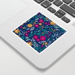 Block Print Botanical Sticker
