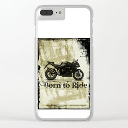 Born to Ride Clear iPhone Case
