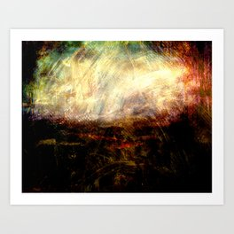 Colors in Darkness 1 Art Print