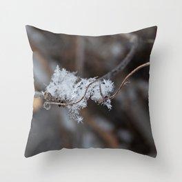 Delicate Snowflake Throw Pillow