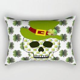 St Paddys Skull Rectangular Pillow