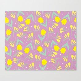 Tulip & Freesia Canvas Print