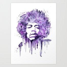 Jimi Hendrix - Purple Haze Art Print