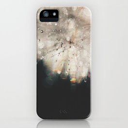 dandelion silver and black iPhone Case