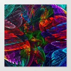 Bright Colored Leaves Canvas Print