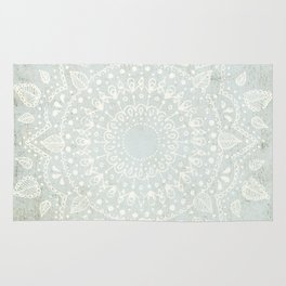 Powder Blue Mandala Rug