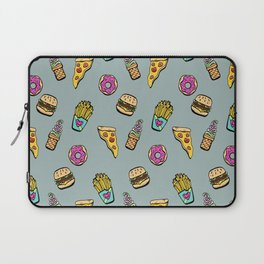 Fast Food Heaven Illustrated Pattern Laptop Sleeve