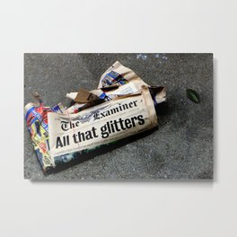 All That Glittered Metal Print