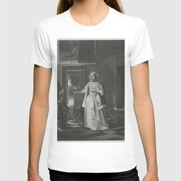 Pieter de Hooch - Man with a glass and a jug and a woman lacing het bodice T-shirt