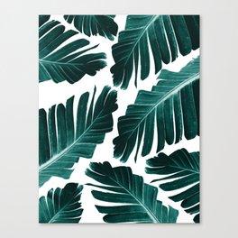 Tropical Banana Leaves Dream #1 #foliage #decor #art #society6 Canvas Print