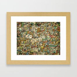 Monster Salad Framed Art Print