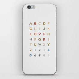 Letter Love - Color iPhone Skin