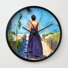 The Vision by Liane Wright Wall Clock