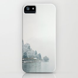 Annecy under the snow - French Alps iPhone Case
