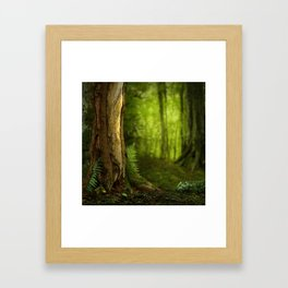 Ferns and tree in Celtic Forest Framed Art Print