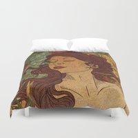nouveau Duvet Covers featuring Nouveau Bliss by Faryn Hughes