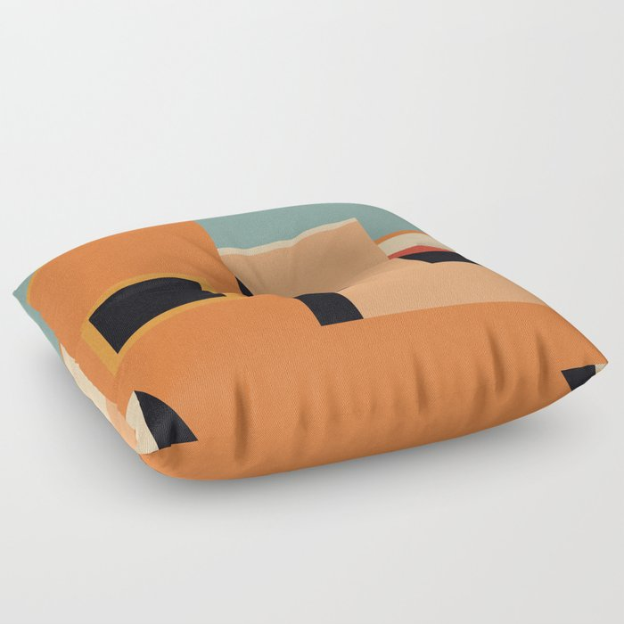 Summer Urban Landscape Floor Pillow