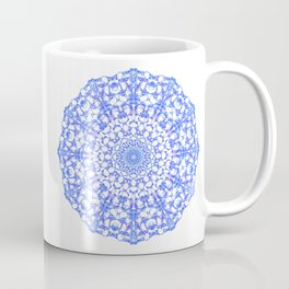 Mandala 12 / 4 eden spirit indigo blue Coffee Mug